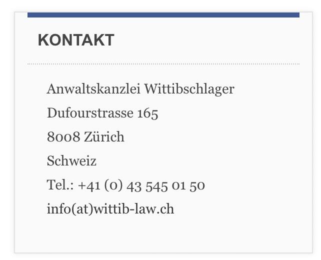 Anwaltskanzlei Wittibschlager